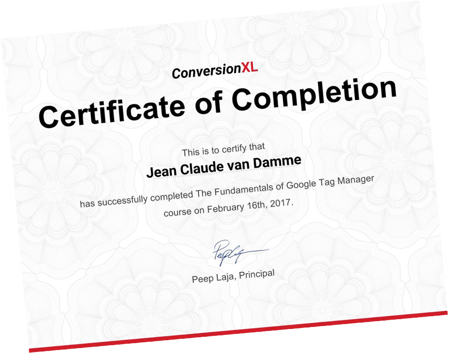 Google Tag Manager Training | Online Course at CXL Institute