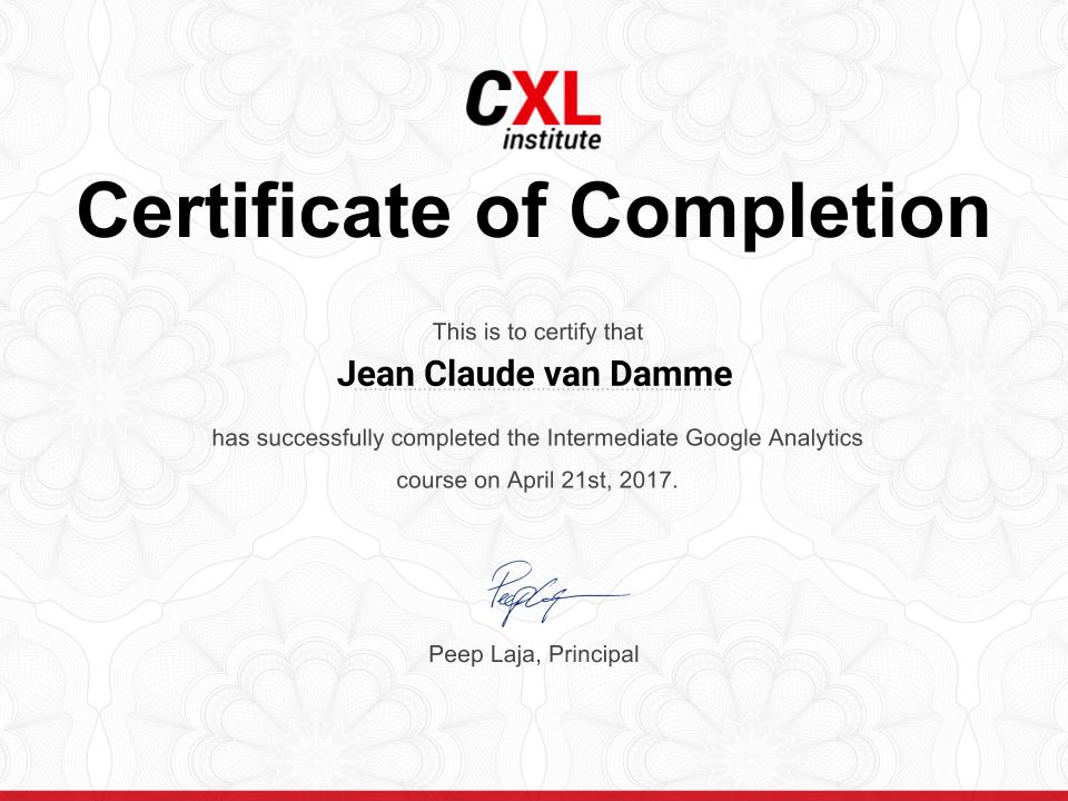 Intermediate Google Analytics Training Online Course Cxl Institute