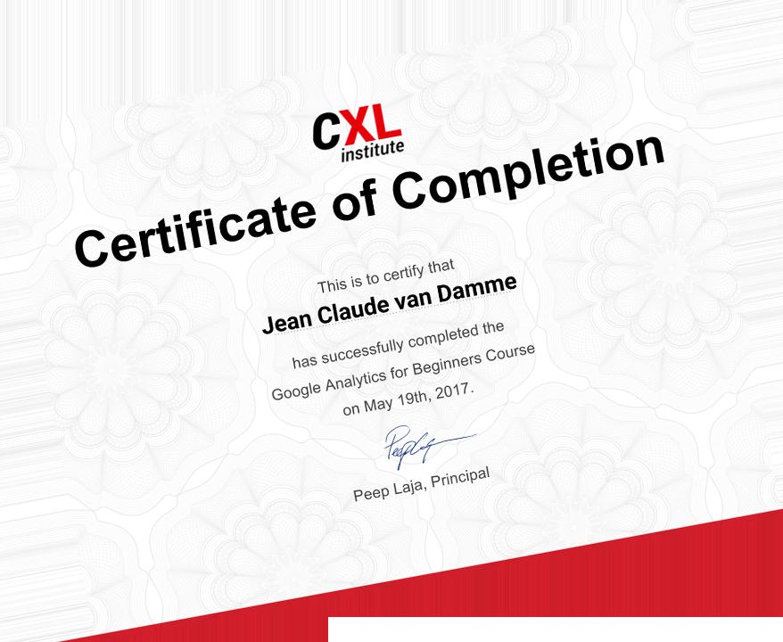 Google Analytics for Beginners [Online Course] - CXL Institute