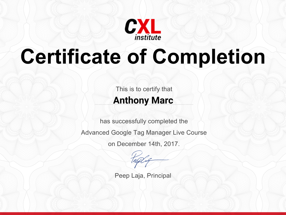 Cxl Institute Online Course Advanced Google Tag Manager