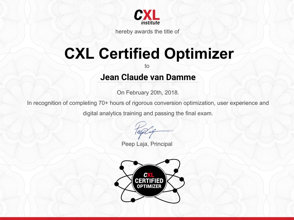 Conversion Optimization Training & Certification Program | CXL