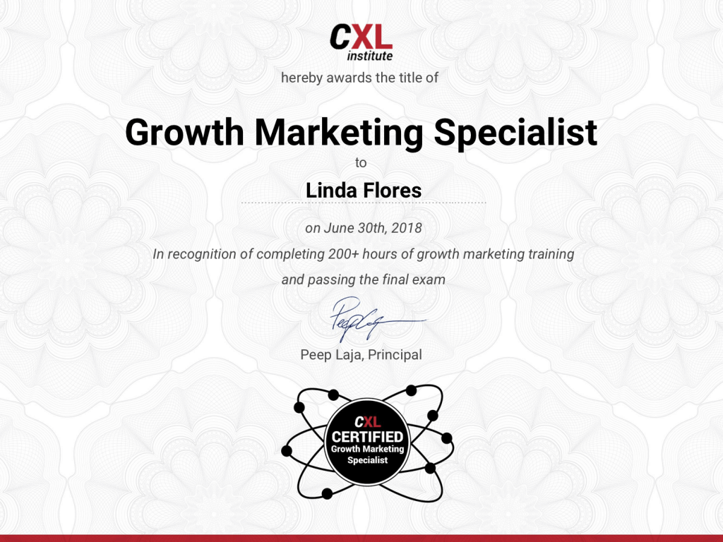 Growth Marketing Courses Training Program By Cxl Institute