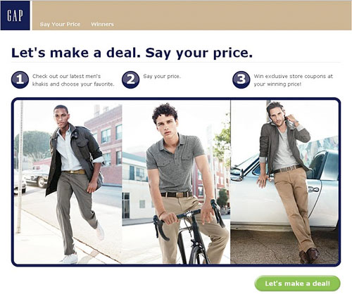 Gap's example of pay-what-you-want.