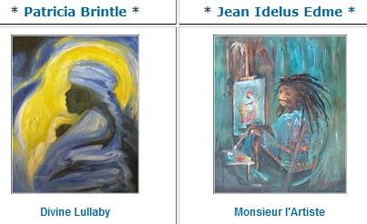 photos of artwork by latin/caribbean artists.