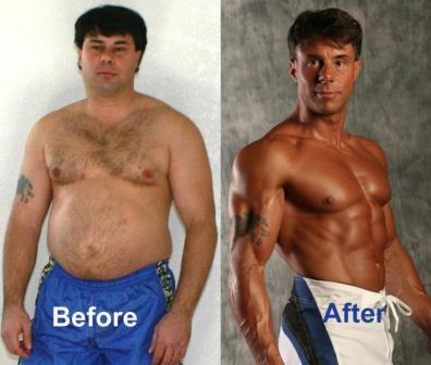 before-and-after example with physical fitness.