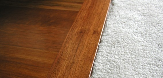 carpet and wood flooring
