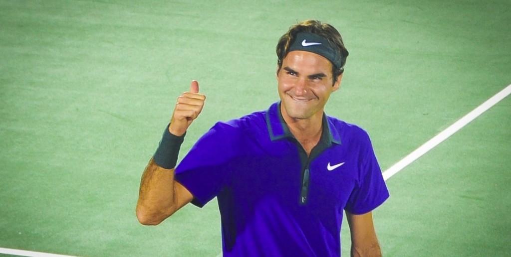 Roger Federer in full Nike gear
