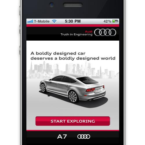 Audi Mobile Landing Page