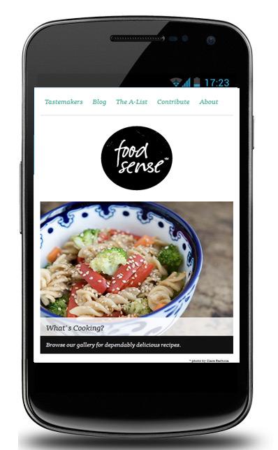 Food Sense Webpage
