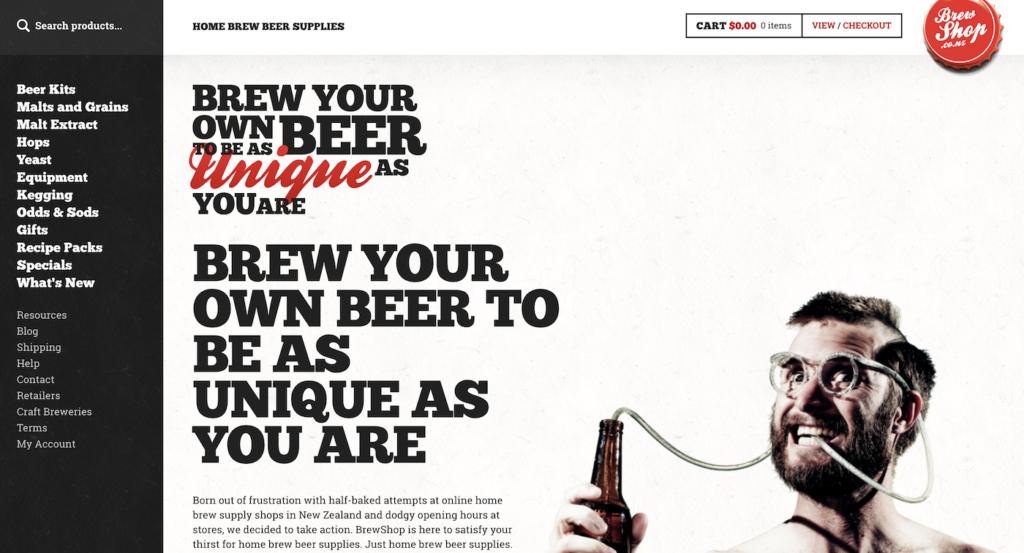 Surprising homepage example.