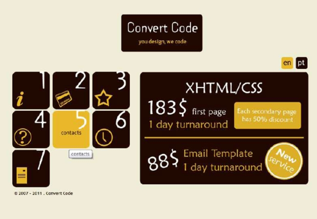 Convert Code poor user experience example.