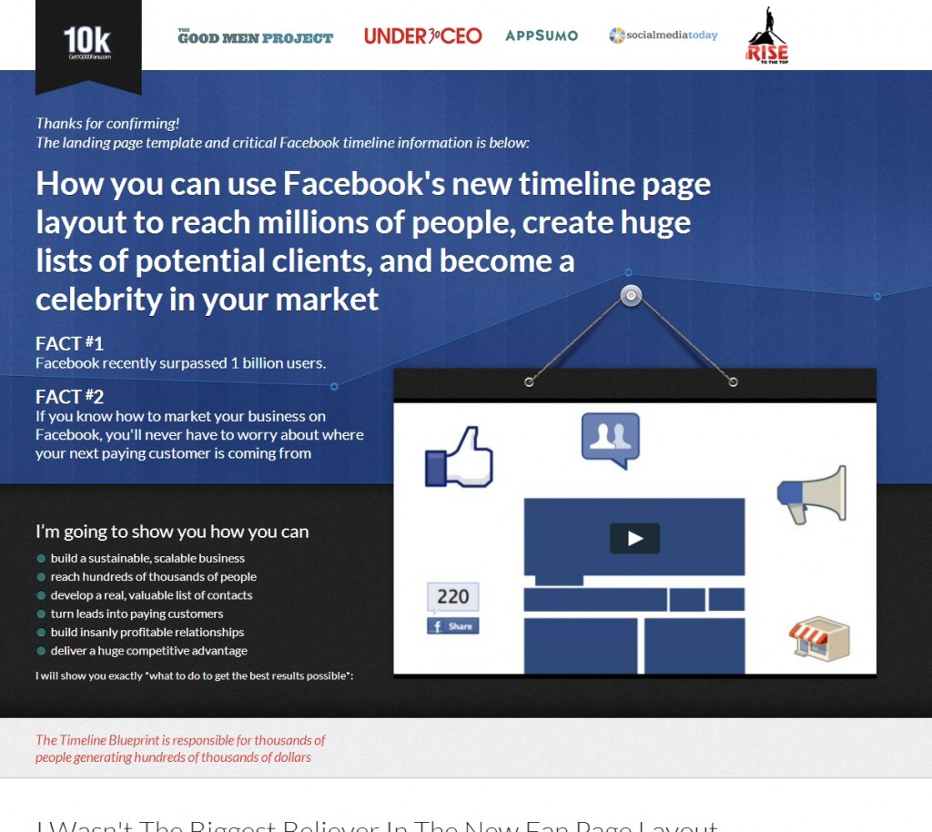 another high-converting long-form sales page.