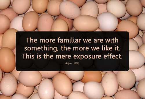definition of the mere exposure effect.