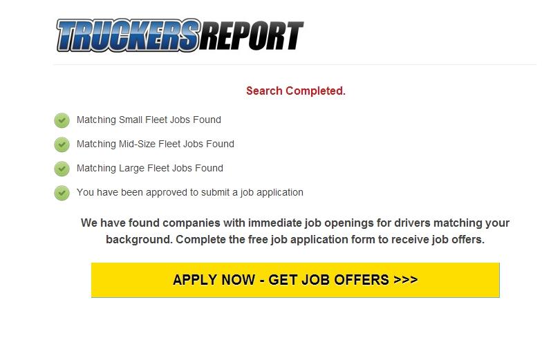 job match page on landing page.