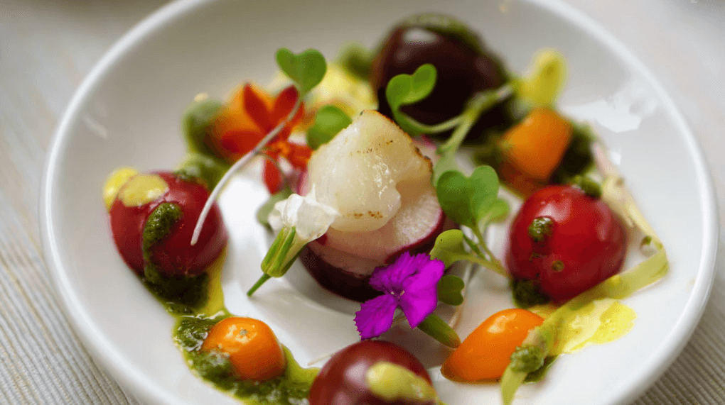 small plate with simple ingredients.