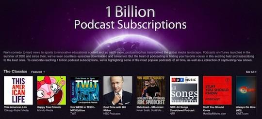 1 billion podcast subscriptions