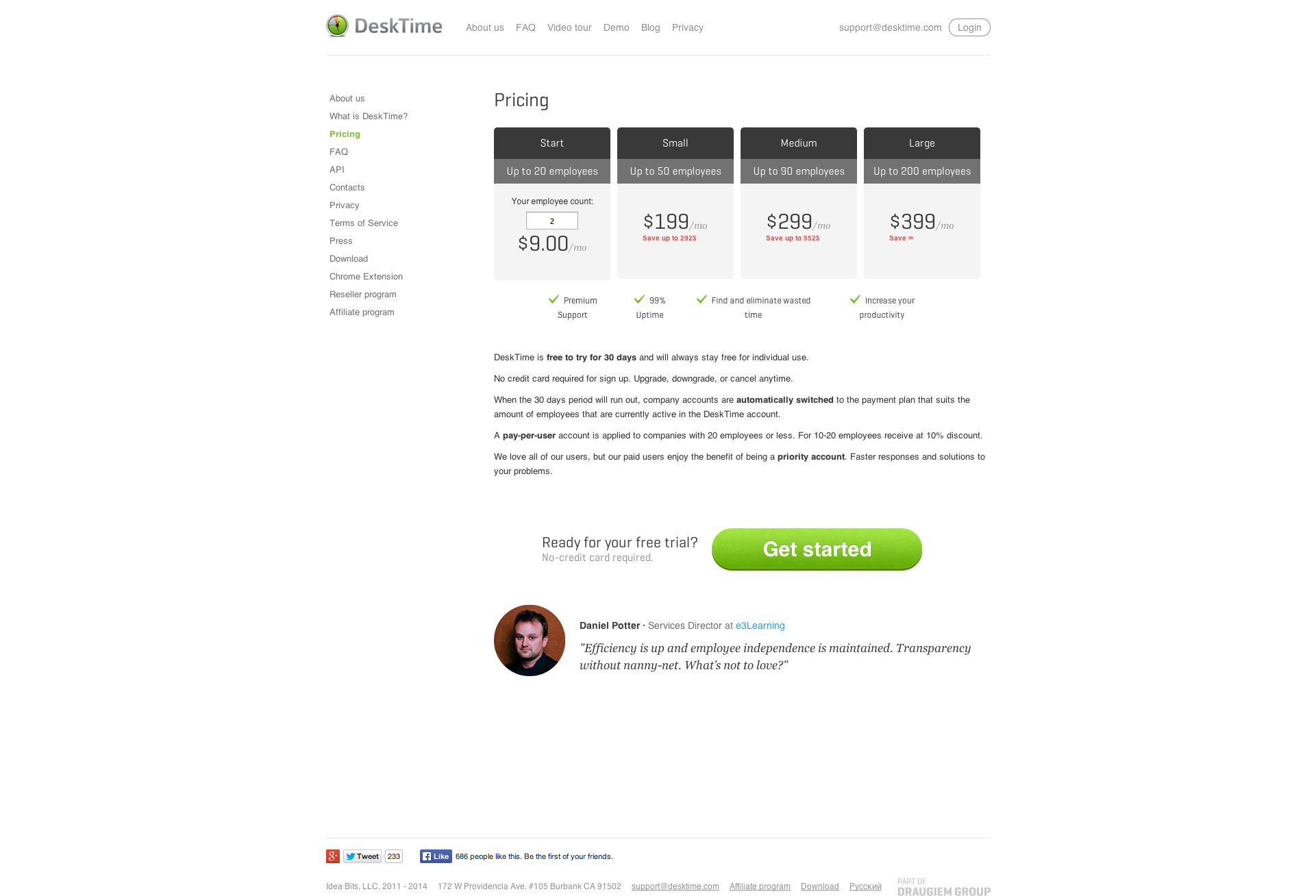 DeskTime   Pricing