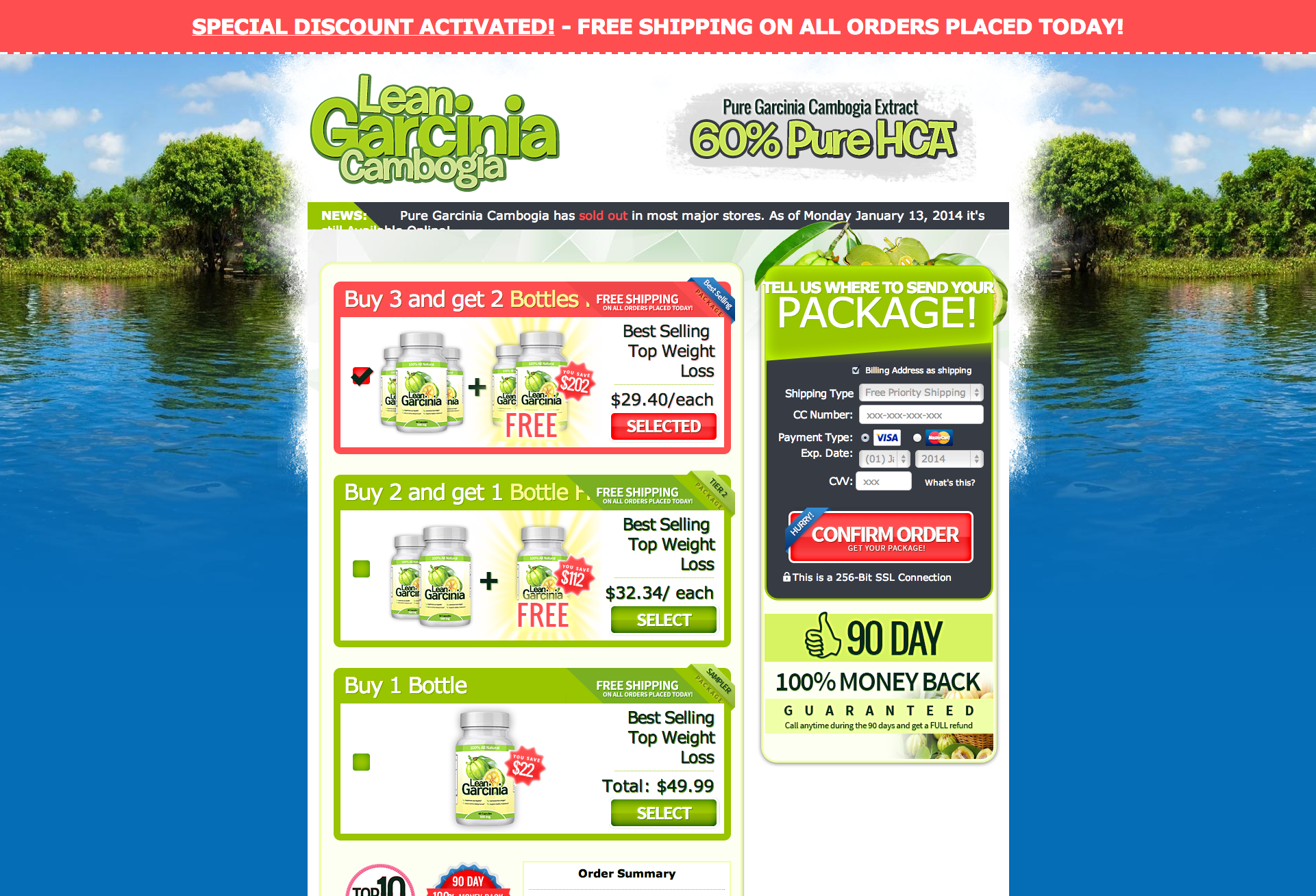Enter Payment Information   Lean Garcinia Cambogia
