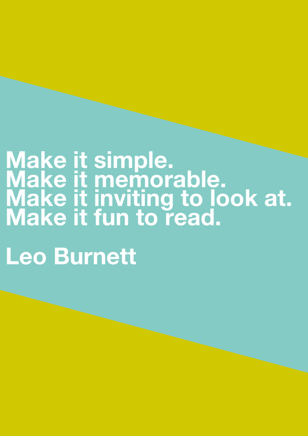 Copywriting quote from Leo Burnett.
