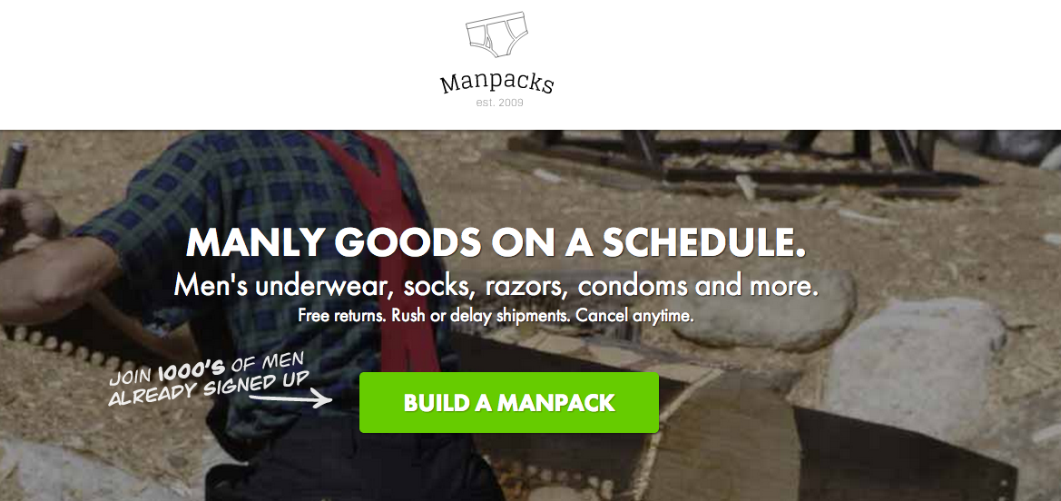Manpacks. Underwear  Socks   Razor Subscription