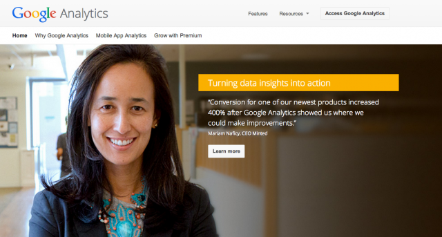 google analytics testimonial