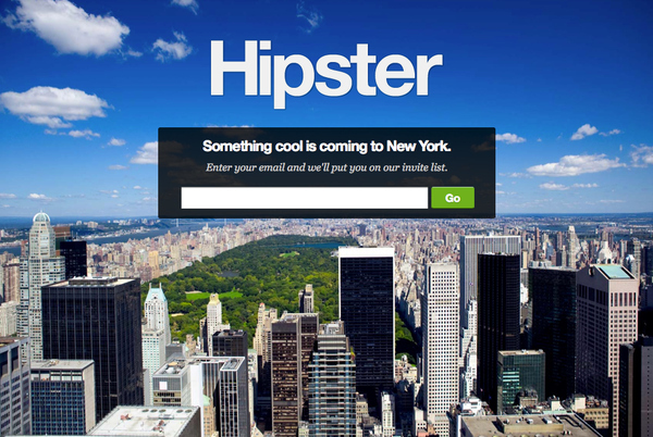 UseHipster.com screenshot.