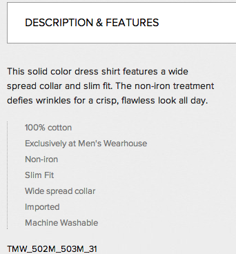 Mens Wearhouse Copy