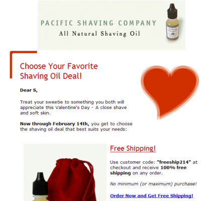 Pacific Shaving Co email