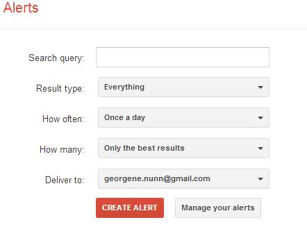 google-alert-menu