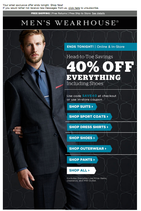 mens warehouse email