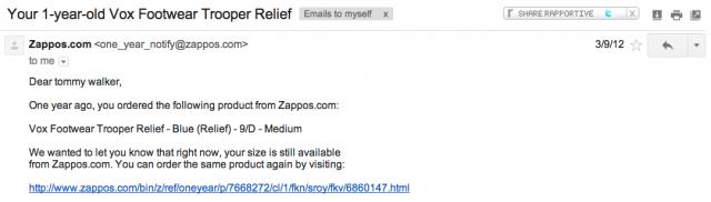 zappos followup