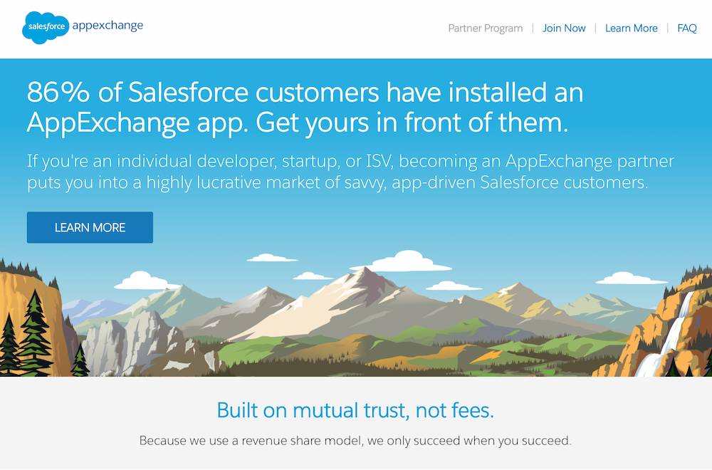 Salesforce marketplace.