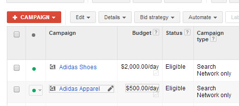 Adidas Campaigns example