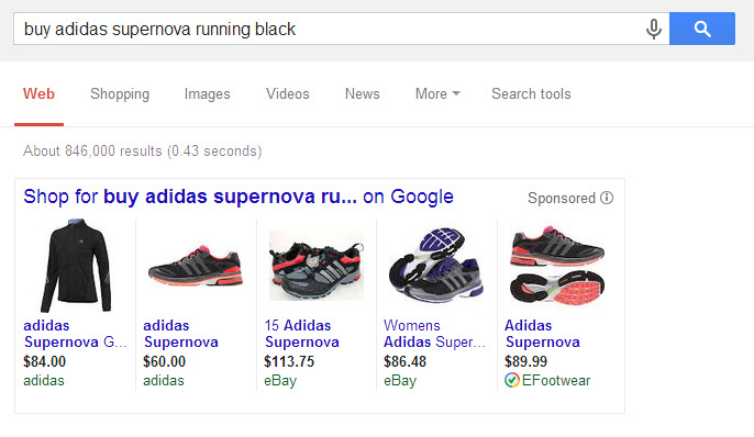 Example Adidas search 1