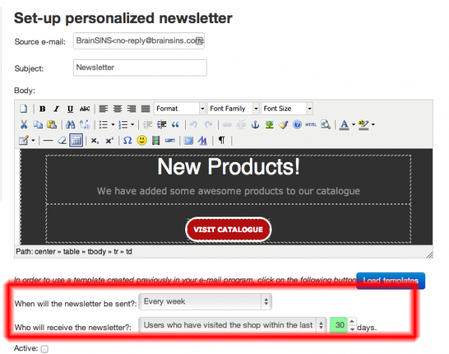 personalized News Letter Dashboard