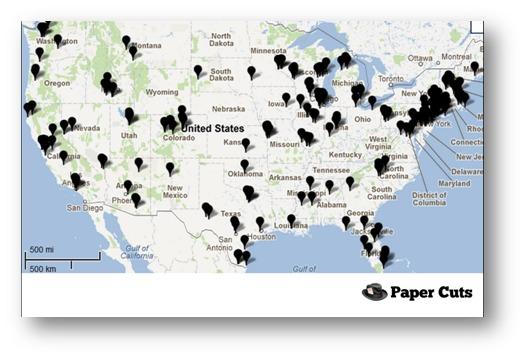 Paper Cuts Map