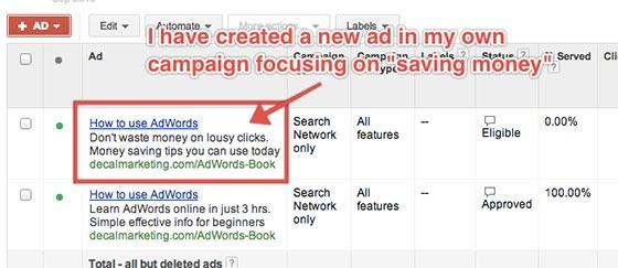 Split Testing Google Ads
