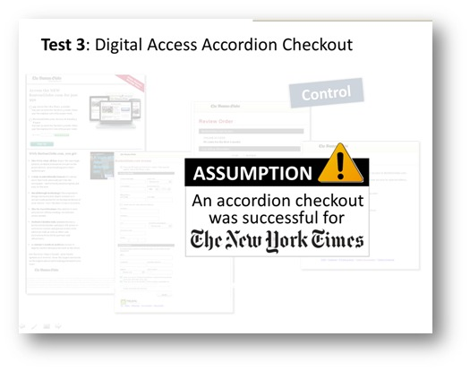Test 3 digital access accordion checkout