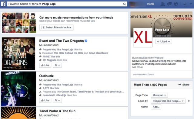 example of graph search on facebook.