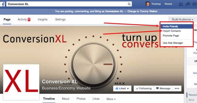 Conversion XL Facebook