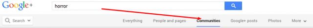 Google + horror