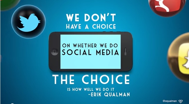 A quote by Erik Qualman on choosing to do social media well.