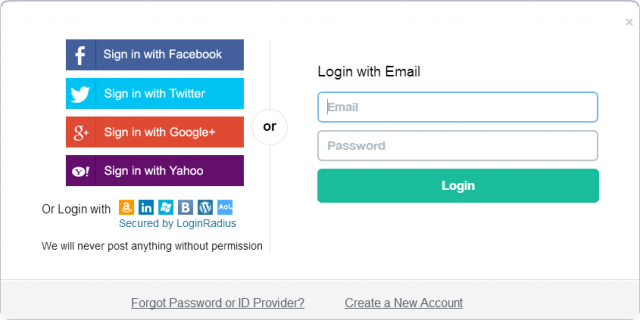This is what social login looks like, it might help your ecommerce business