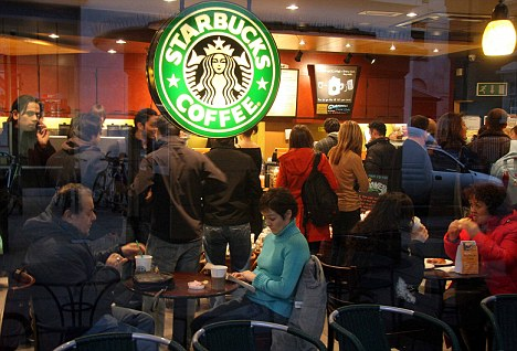 Coffee queues at Starbucks