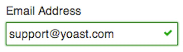 Email address Yoast.