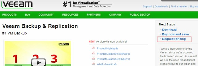 Veeam variation use.