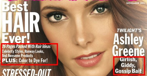 example of microcopy on magazine cover.