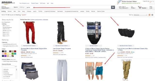 Amazon.co.uk Pants