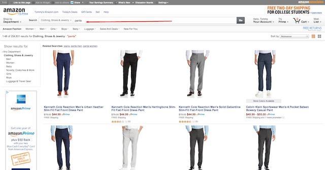 Amazon.com Clothing Shoes Jewelry