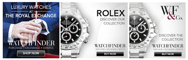watchfinder remarketing ad.